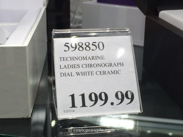 Technomarine Ladies Chronograph White Dial Ceramic Costco 3