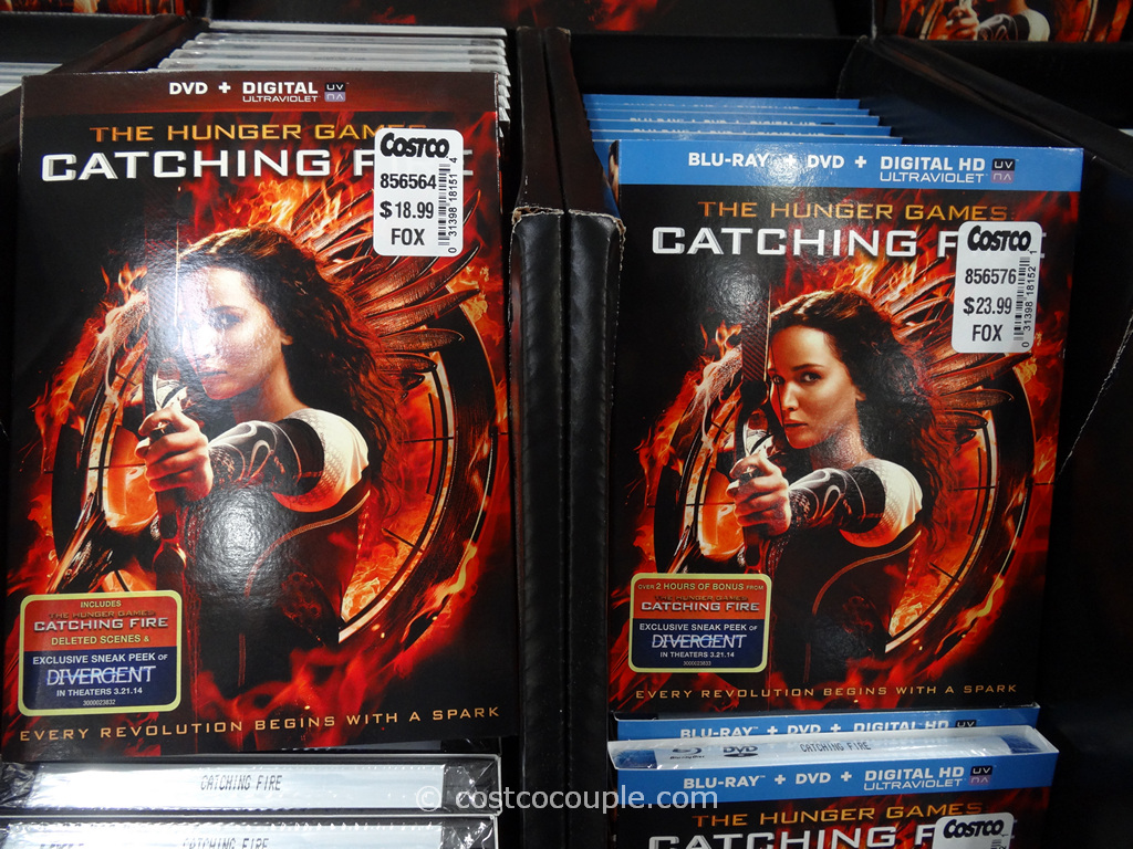 The Hunger Games Catching Fire BluRay DVD