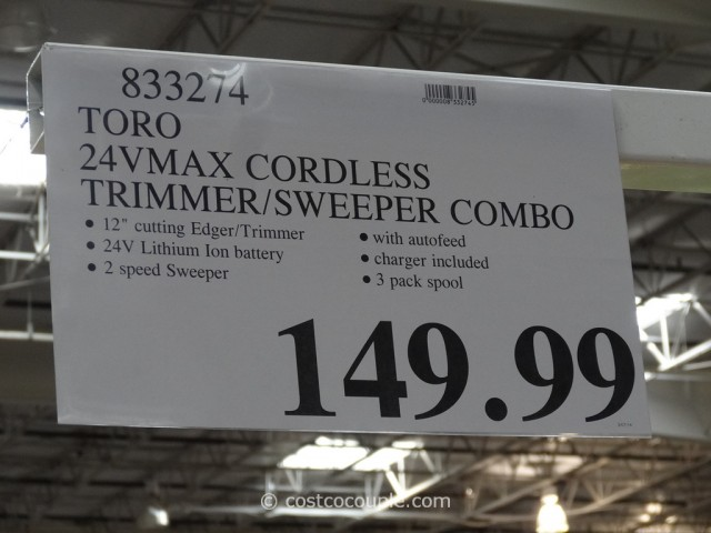 Toro Cordless Trimmer and Sweeper Pack Costco 2