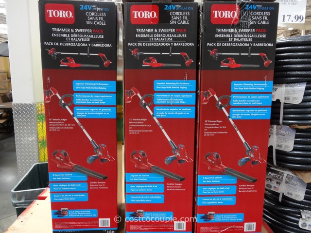 Toro Cordless Trimmer and Sweeper Pack Costco 3