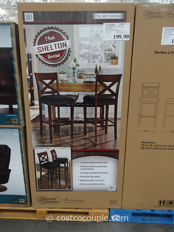 Universal Furniture Shelton 2-Pack Barstool Costco 1