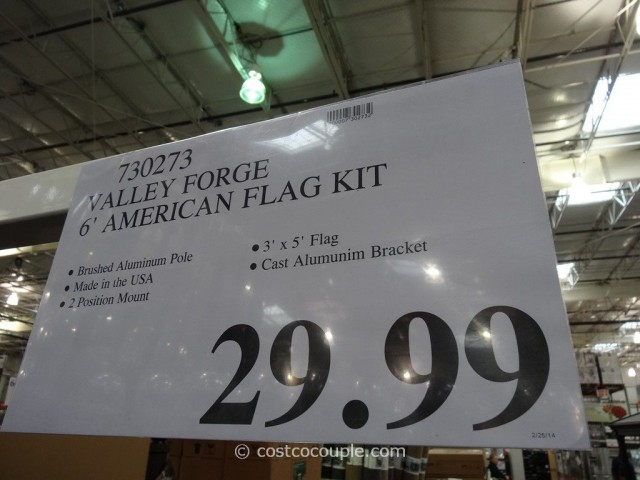Valley Forge American Flag Kit Costco 4