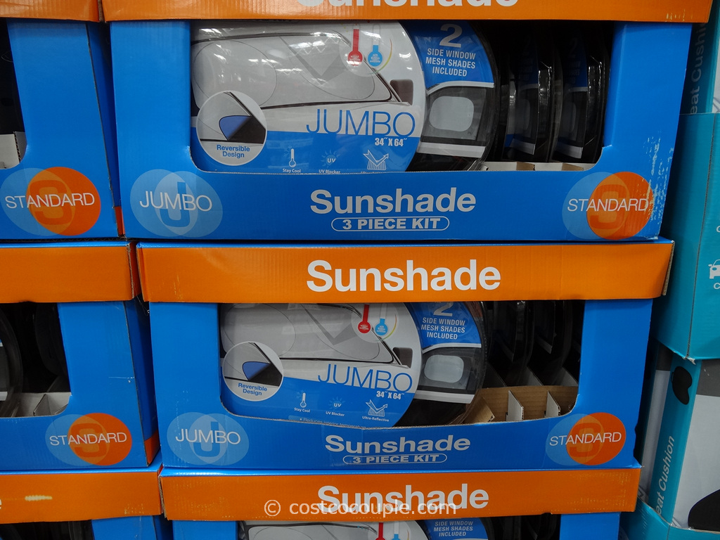 Winplus 3-Piece Auto Sunshade Kit Costco 1