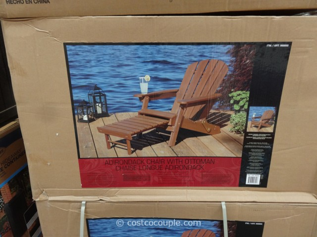 Adirondack Chair With Ottoman 2