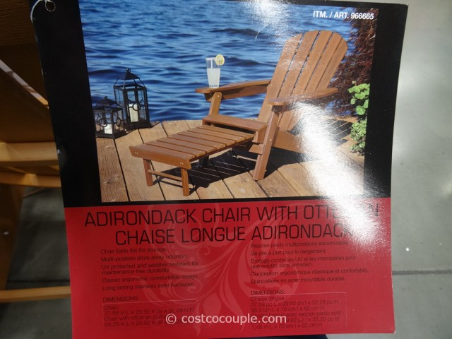 Adirondack Chair With Ottoman Costco 1