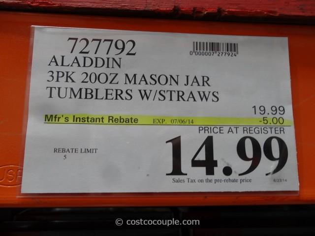 Aladdin 3-Pack Mason Jar Tumblers Costco