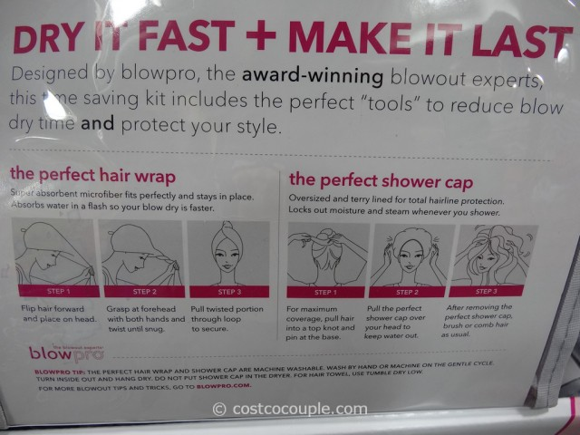 BlowPro The Perfect Hair Wrap and Shower Cap Costco 4