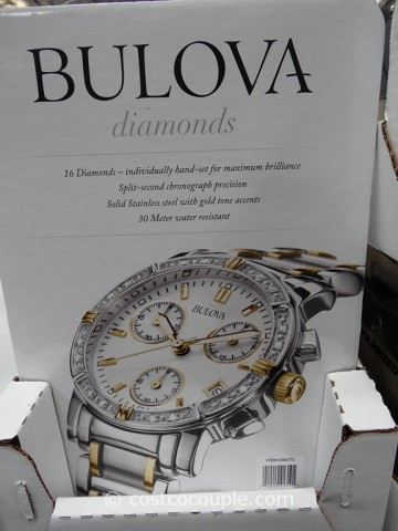 Bulova Ladies Diamond Chronograph Watch Costco 2