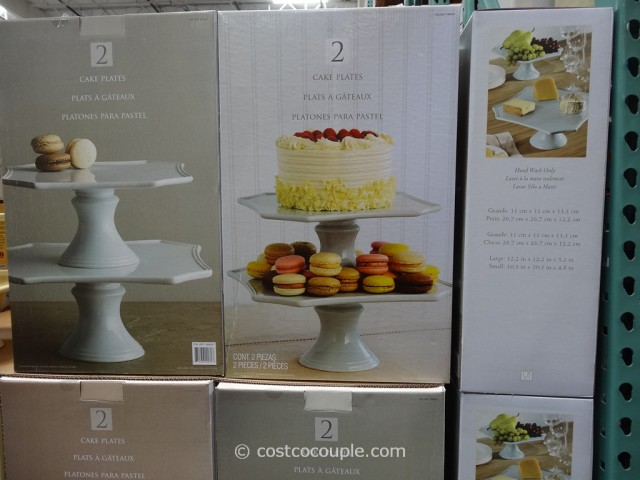 Ceramic Cake Stand Set Costco 1