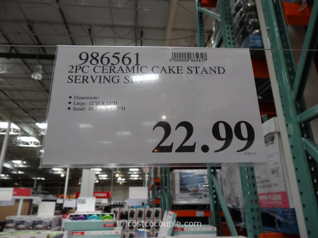 Ceramic Cake Stand Set Costco 3