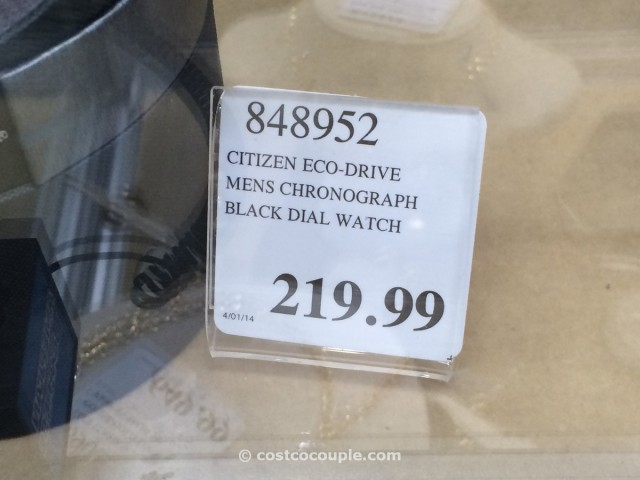 Citizen Eco Drive Chronograph Black Dial Costco 2