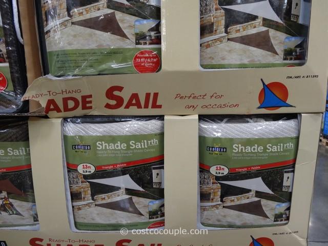 Coolaroo Triangle Shade Sail Canopy Costco 3