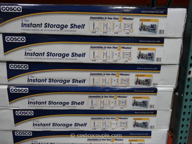 Cosco 4-Tier Instant Storage Shelf Costco 4