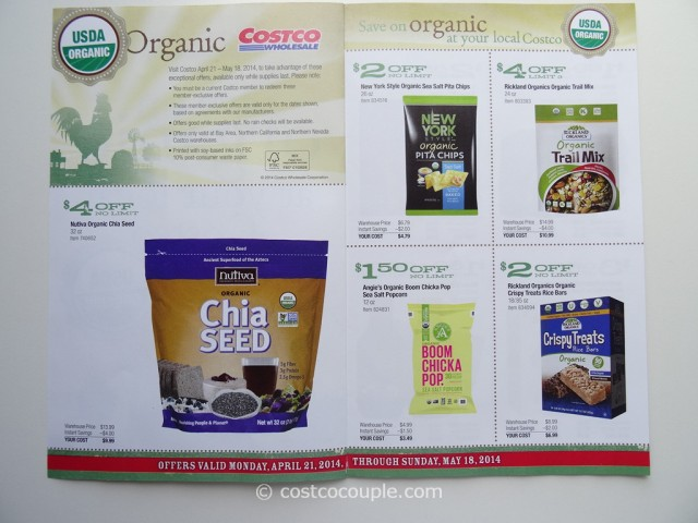Costco April 2014 Organic Instant Savings 2