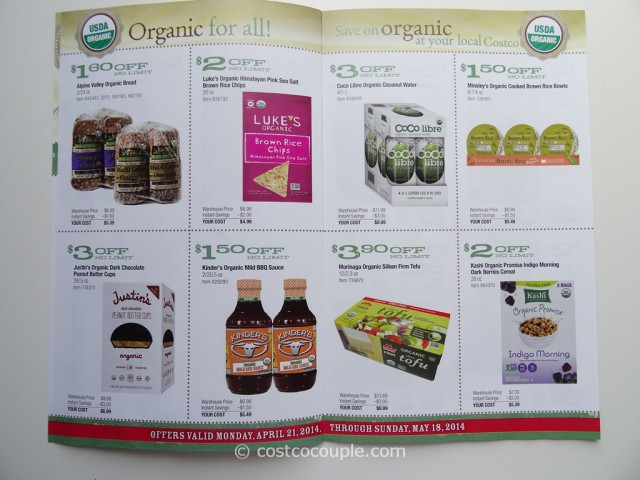 Costco April 2014 Organic Instant Savings 3