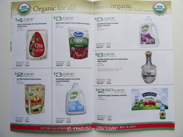Costco April 2014 Organic Instant Savings 4