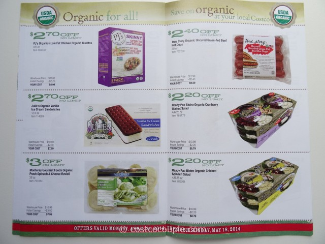 Costco April 2014 Organic Instant Savings 5