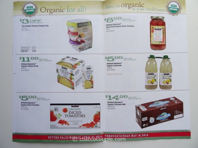 Costco April 2014 Organic Instant Savings 6