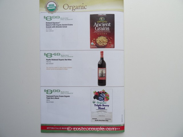 Costco April 2014 Organic Instant Savings 7