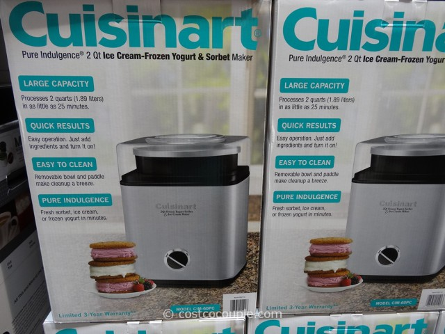 Cuisinart Pure Indulgence 2Qt Ice-Cream Maker Costco 2