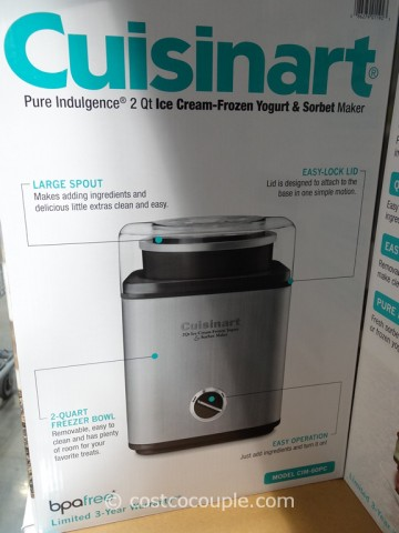 Cuisinart Pure Indulgence 2Qt Ice-Cream Maker Costco 5
