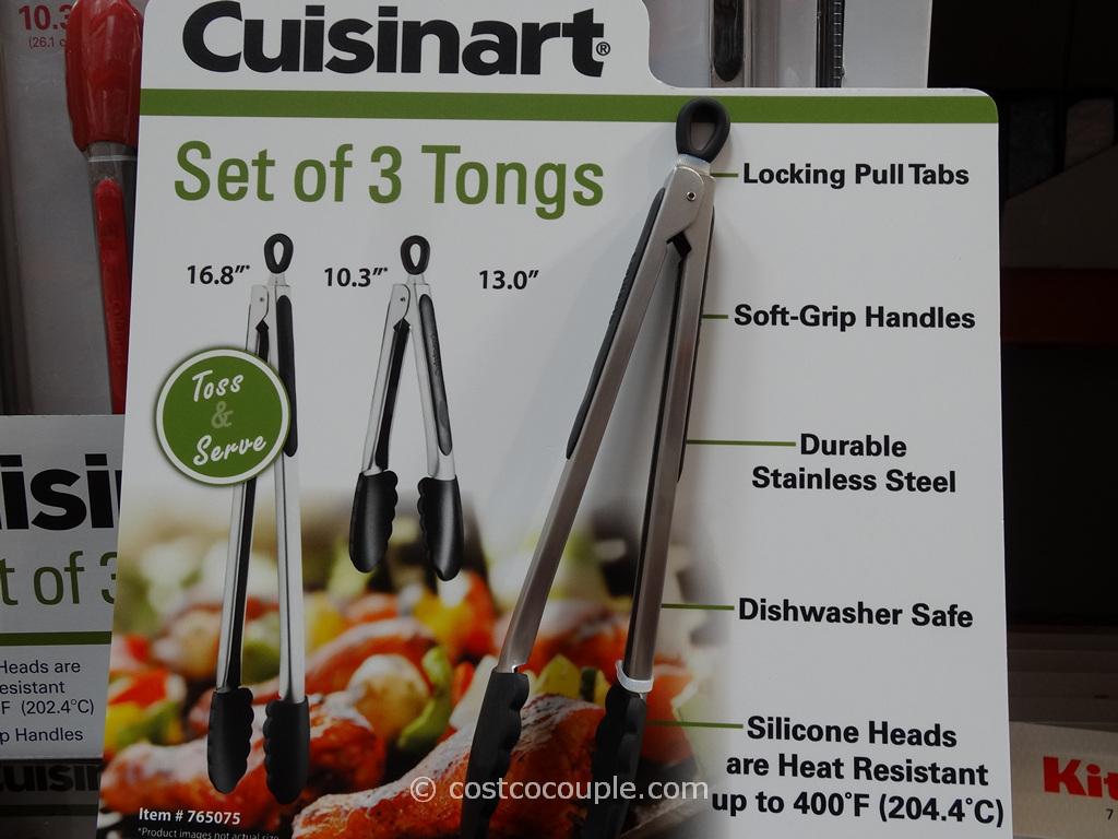 Cuisinart Stainless Steel Tongs Set Costco 1