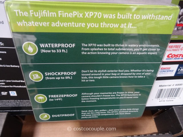 Fuji XP70 Weatherproof Camera Costco 6