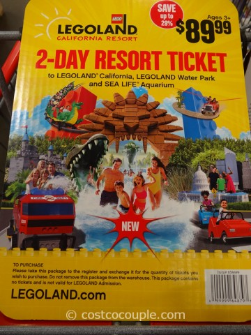 Gift Card Legoland 2-Day Resort Ticket Costco 2