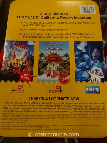 Gift Card Legoland 2-Day Resort Ticket Costco 3