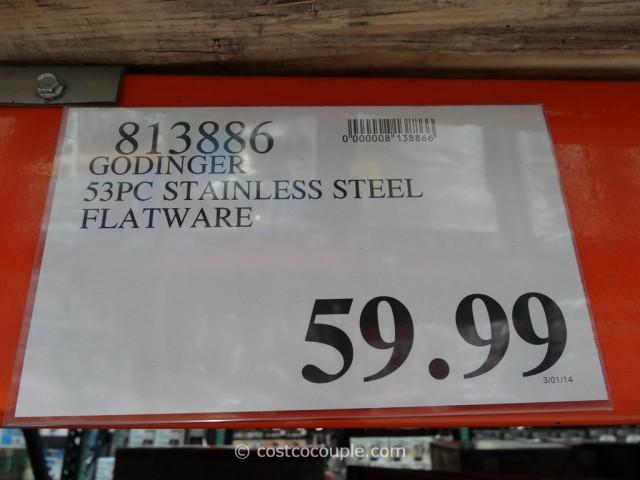 Godinger 53-Piece Stainless Steel Flatware Set Costco 1