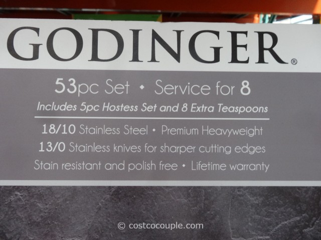 Godinger 53-Piece Stainless Steel Flatware Set Costco 7