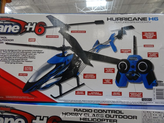 Hurricane H6 Radio Control Outdoor Helicopter