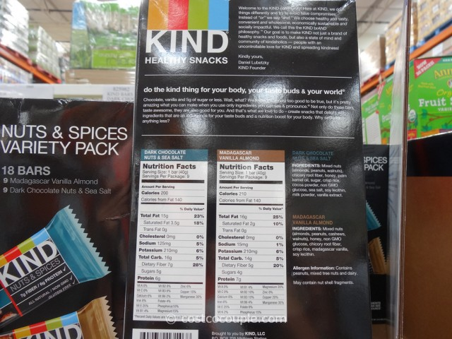Kind Bars Nut and Spices Variety Pack Costco 2