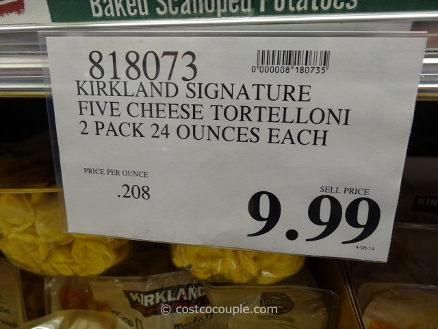 Kirkland Signature Five Cheese Tortelloni Costco 1