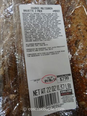 Kirkland Signature Organic Multigrain Baguette Costco 1