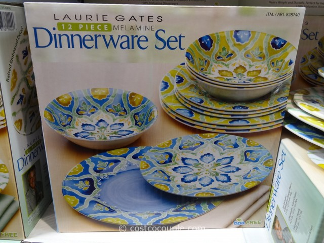 Laurie Gates 12 Piece Melamine Dinnerware Set