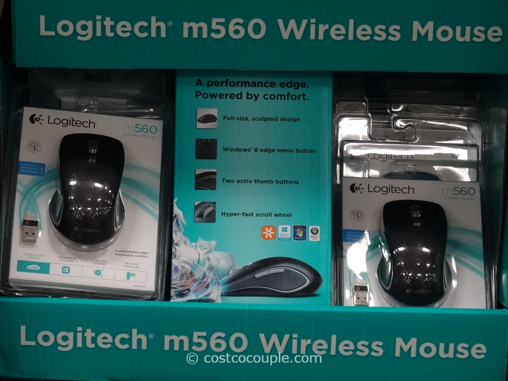 Logitech m560 Wireless Mouse Costco 1