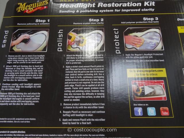 Meguiars Headlight Restoration Kit Costco 2