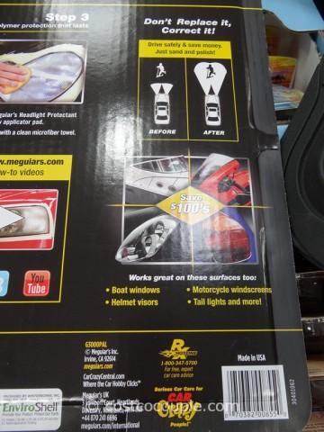 Meguiars Headlight Restoration Kit Costco 3