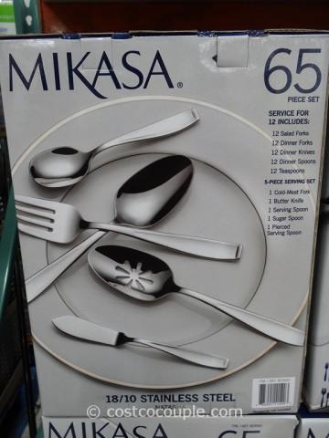 Mikasa 65-Piece Natasha Flatware Set Costco 2