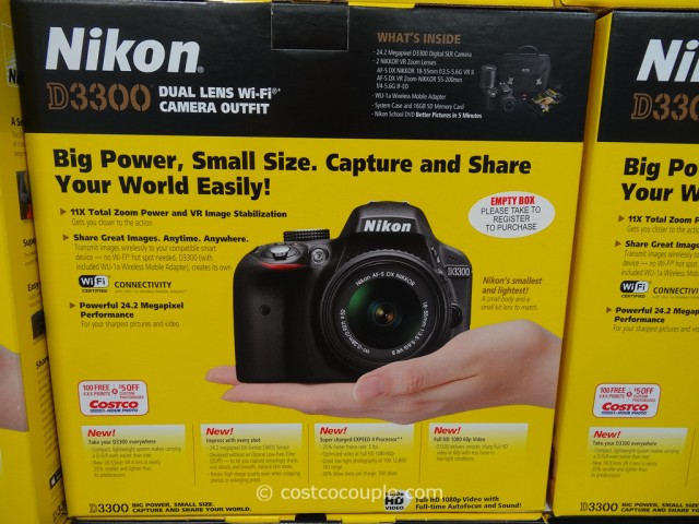 Nikon D3300 DSLR Kit Costco 1