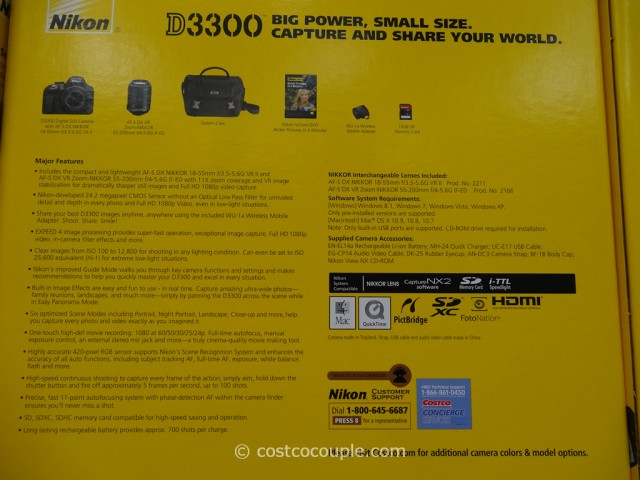 Nikon D3300 DSLR Kit Costco 2