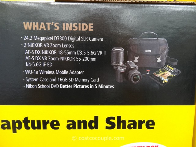 Nikon D3300 DSLR Kit Costco 3