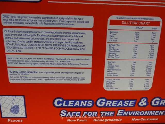 Oil Eater Cleaner Degreaser Costco 2