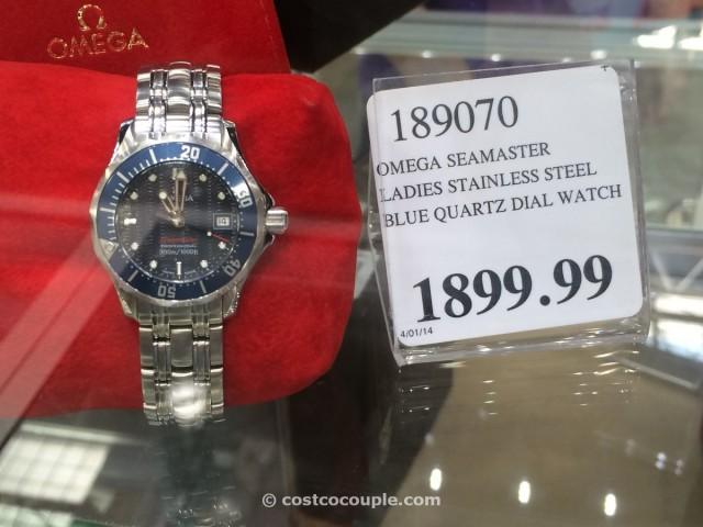 Omega Seamaster Ladies Blue Quartz  Costco 1