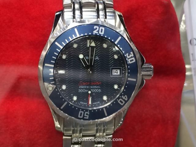 Omega Seamaster Ladies Blue Quartz  Costco 2