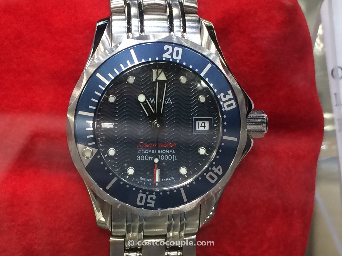 Omega Seamaster Ladies Blue Quartz Costco 2