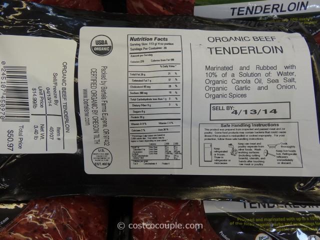 Organic Grass Fed Beef Tenderloin Costco 1