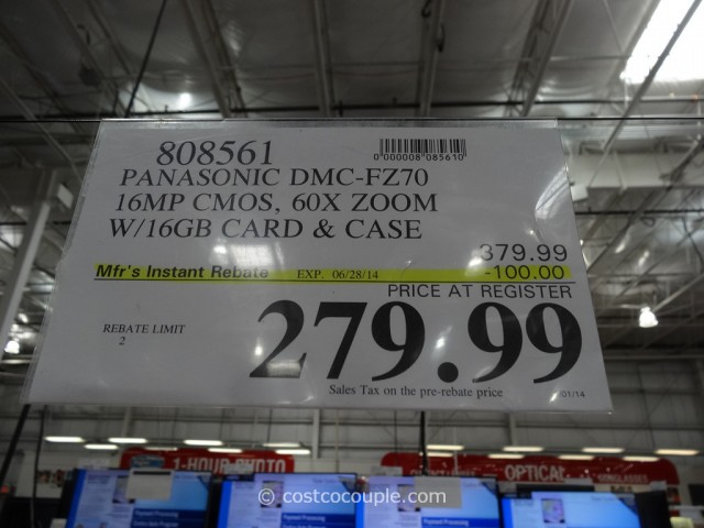 Panasonic DMC-FZ70 Camera Costco