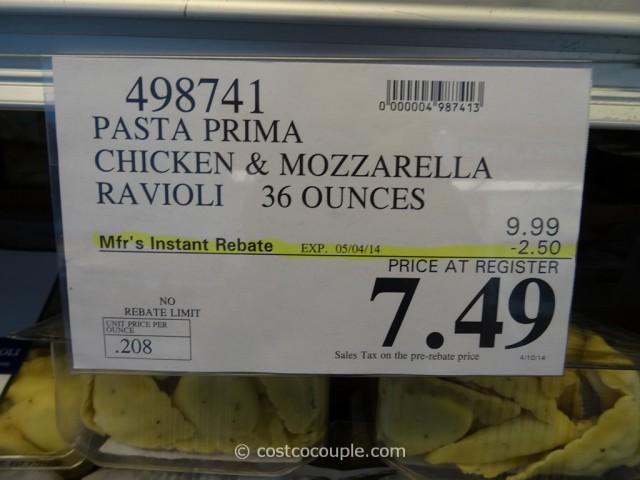 Pasta Prima Chicken and Mozzarella Ravioli Costco 1